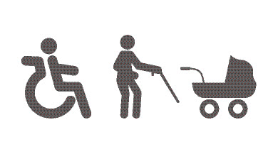 It's confusing as to who can park in seniors parking or disabled or pram