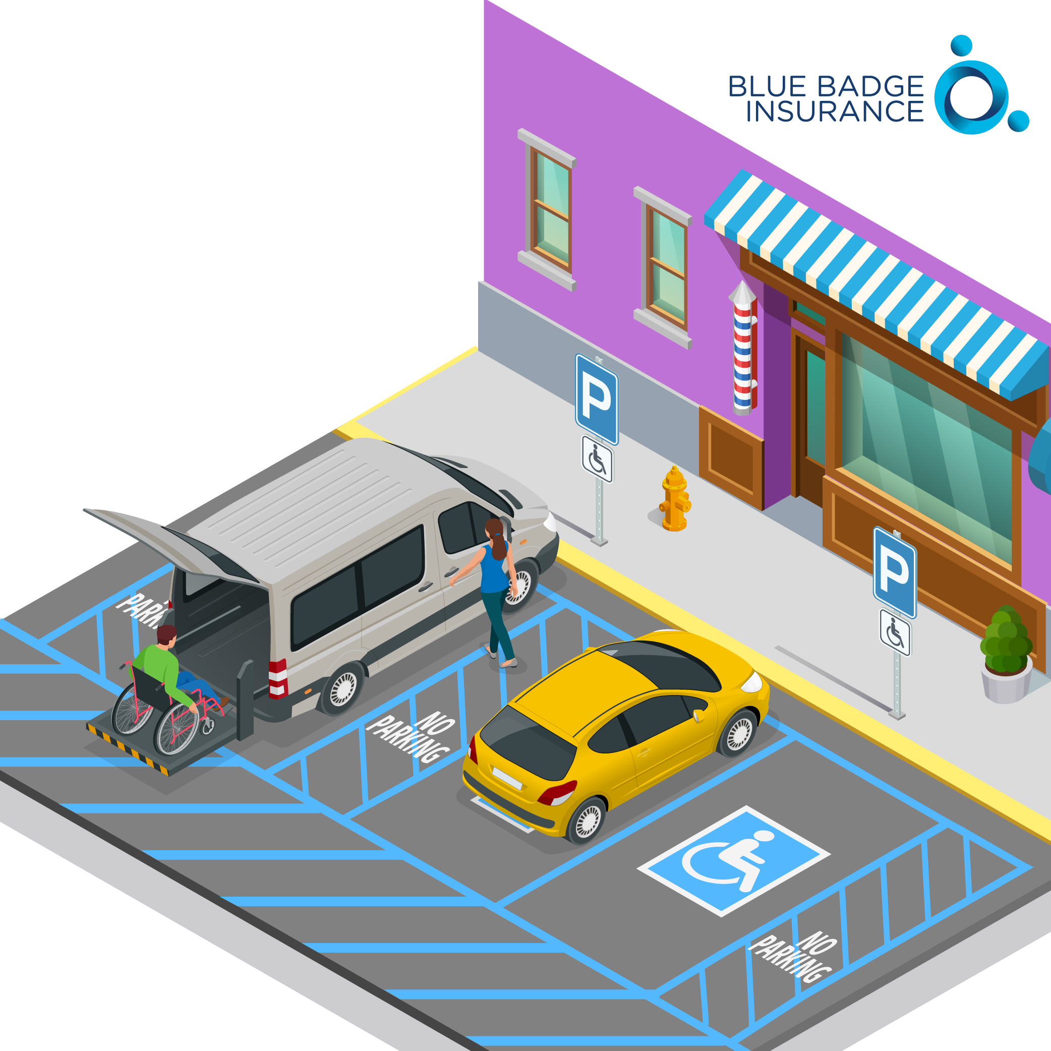accessible parking spaces are specially designed