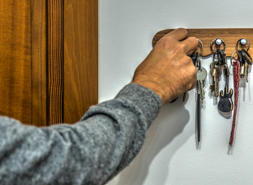 hanging keys close to the door like this doesnt help to prevent car theft