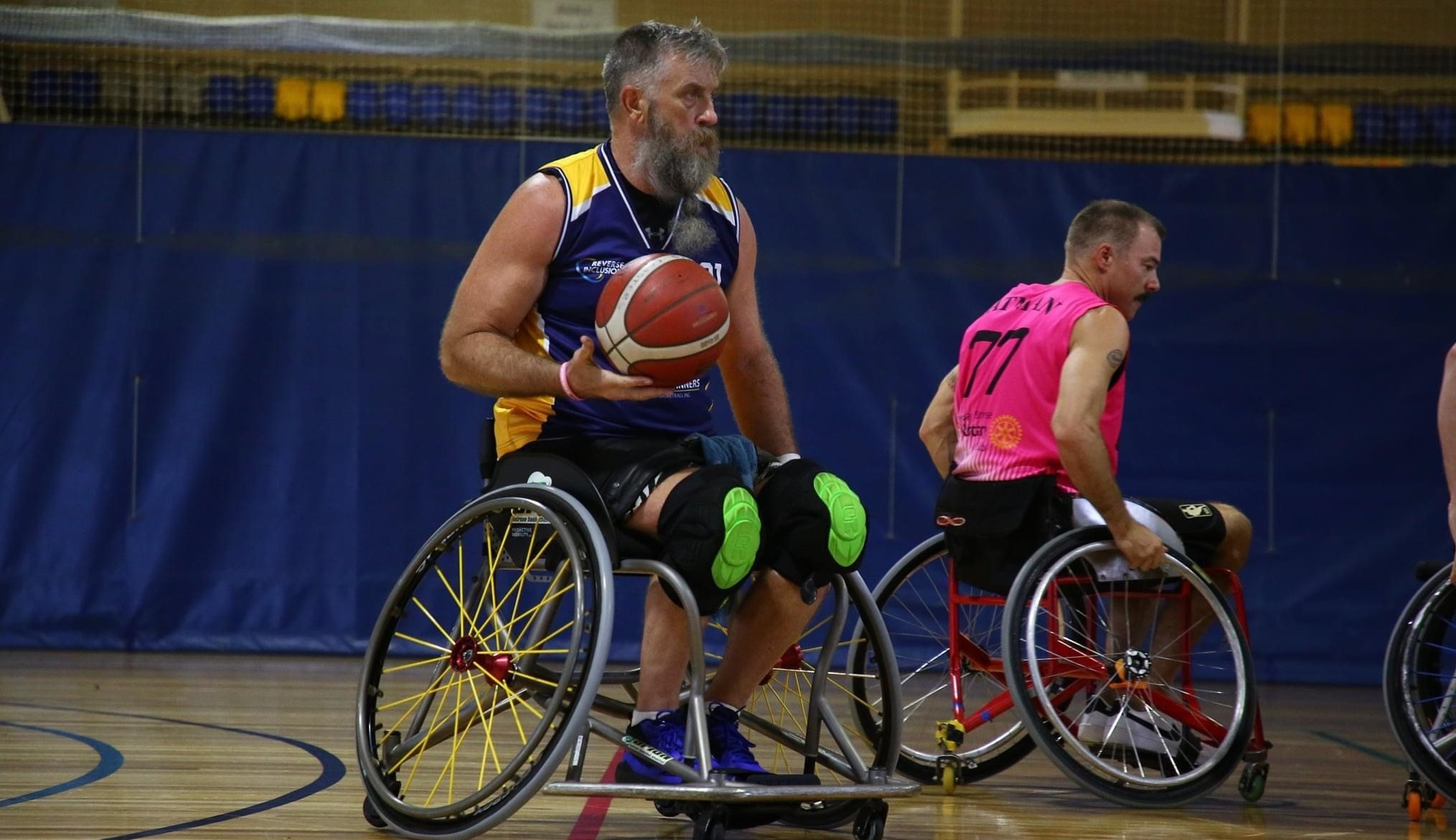 Stephen French trains for the Invictus Games.