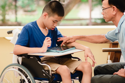 a tablet like this can be a good present for children with disabilities