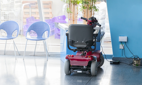 Keep mobility scooters clean first by dry-wiping.