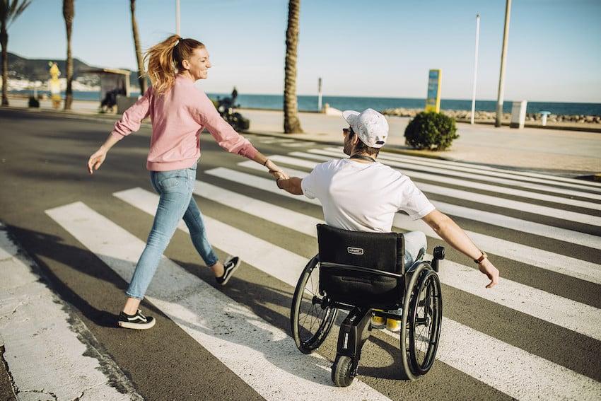 couple celebrate Spinal Cord Injury Awareness Week in Australia