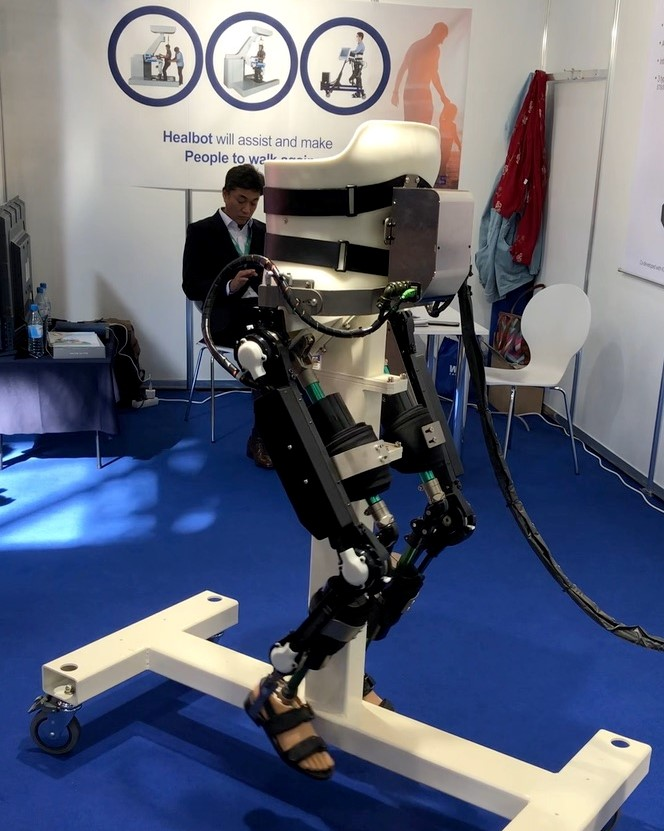 the exoskeleton suit is mechanised and lightweight.
